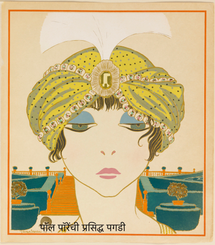 6 Book_Illustration,_Les_choses_de_Paul_Poiret_vues_par_Georges_Lepape_(Items_by_Paul_Poiret_as_seen_by_George_Lepape),_Woman_in_a_Turban,_plate_6,_1911_(CH_68775933) (1).jpg